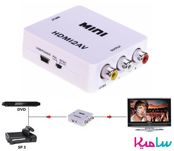 دستگاه مبدل HDMI to AV  convert or